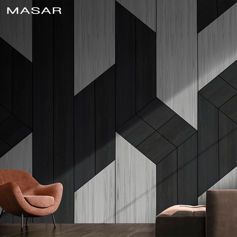 MASAR Creative Geometric Figure Simple High Cooling Mural Office Living Room Hallway Background Wall Wallpaper