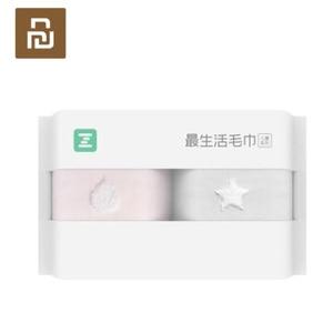 Image 2 - 2 قطعة/الحقيبة Youpin ZSH منشفة الأطفال سلسلة طفل خاص غسل القطن لينة للأطفال مدرسة المنزل الطفل منشفة