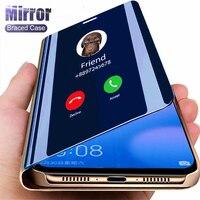 Custodia a specchio intelligente per Xiaomi Redmi Note 9 8 7 6 5 Pro 8T 4X 9A 9C 8A 7A 5 Plus Mi 11 10T Note 10 Lite A1 A2 6X X3 NFC Cover