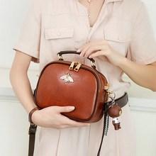 Women Bags Genuine Leather Shoulder Bag Crossbody Famous Brand Tote Handbag Cute Small Fashion Shopping Bag with Bear Pendant cute women s crossbody bag with bear print and tassel design