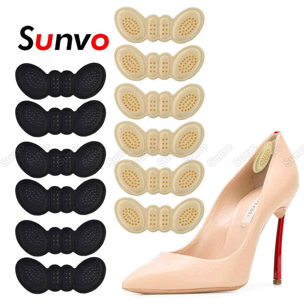 6 pares de palmilhas de calcanhar almofadas para as mulheres sapatos de salto alto adesivo forro aperto saltos protetor adesivo pé alívio da dor cuidados com a inserção almofada