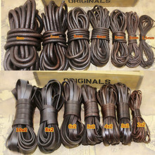 2Meter Retro Coffee Genuine Leather Cord Flat/Round Leather Rope 2/3/4/5/6/8/10mm DIY Bracelet Necklace Jewelry Making Findings