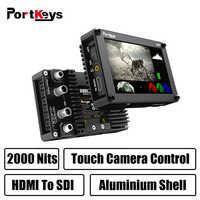 Portkeys BM5 3G-SDI/HDMI Eingang 2000nit Touchscreen 3D-LUT Aluminium Shell Auf-Kamera DSLR Monitor mit Control Kabel