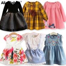 Для девочек черное платье принцессы осень Детская одежда платье для девочек детская одежда для девочек для детей 2-7 лет вечерние платья