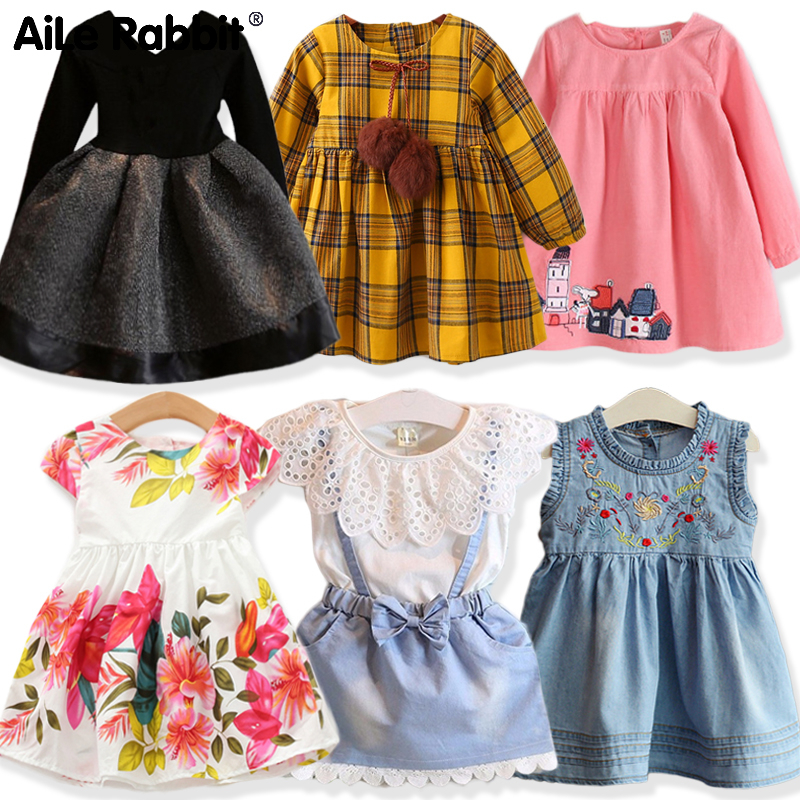 Girl Black Princess Dress 2019 Autumn 2019 Children's Clothing Dress For Girls Kids Clothes 2-7 Years Old Party Dress