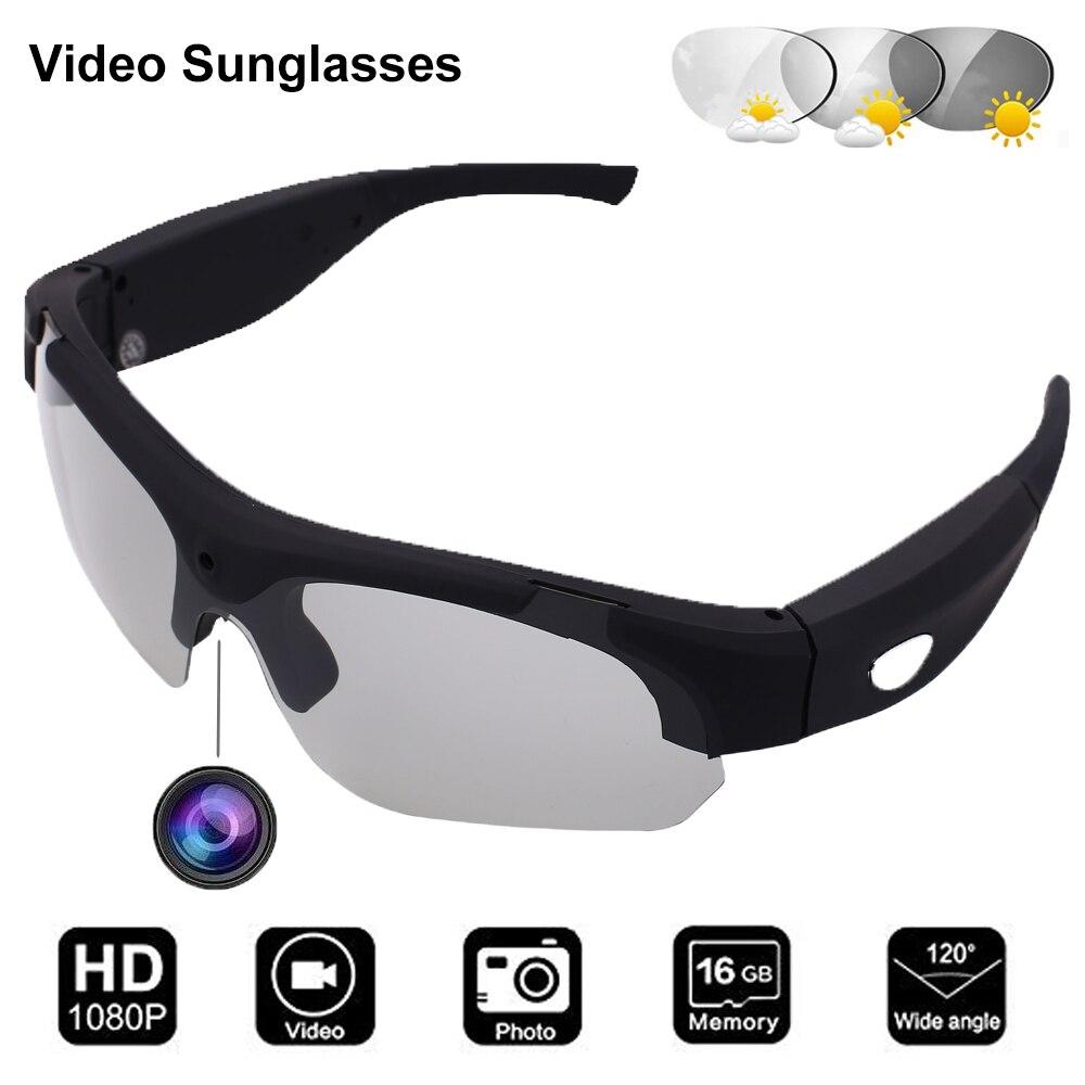 Conway Mini Camcorders Glasses Polarized Sports Video Sunglasses Camera&Photo Recording Glasses Portable DVR Headsets Eyewear