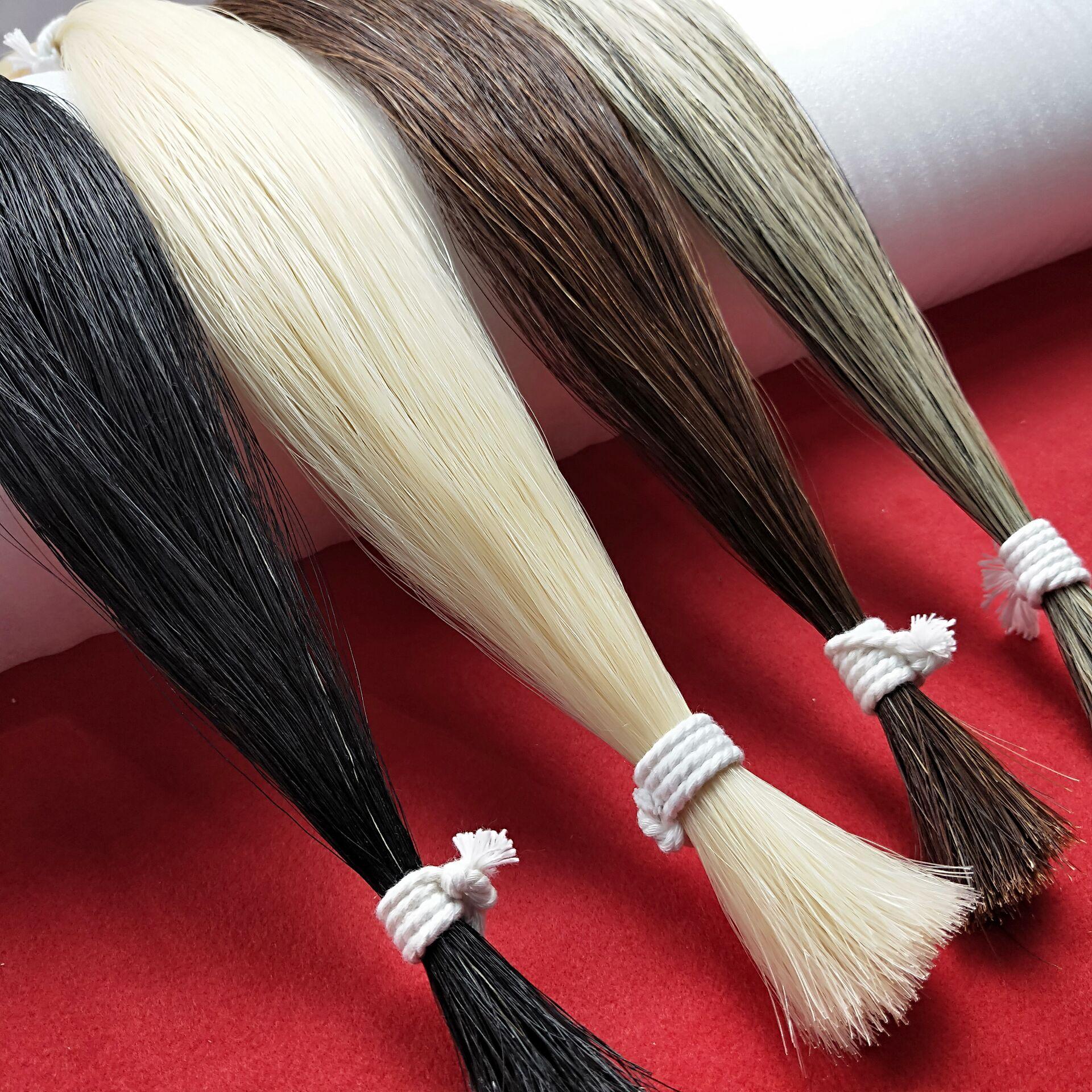 Brown Bow Hair 50g Horsetail Bow Hair Violin Bow Hair Erhu Bow Hair 80-85 Cm Breeding Horsetail