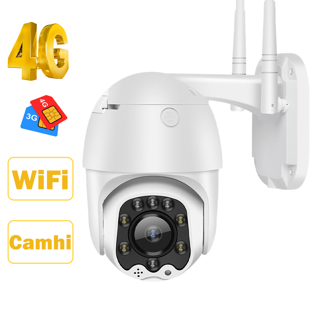 HISMAHO 3G 4G SIM כרטיס IP מצלמה 1080P HD מצלמה WIFI PTZ כיפת מצלמה חיצוני 2 דרך אודיו אבטחת CCTV P2P IR ראיית לילה 30 m