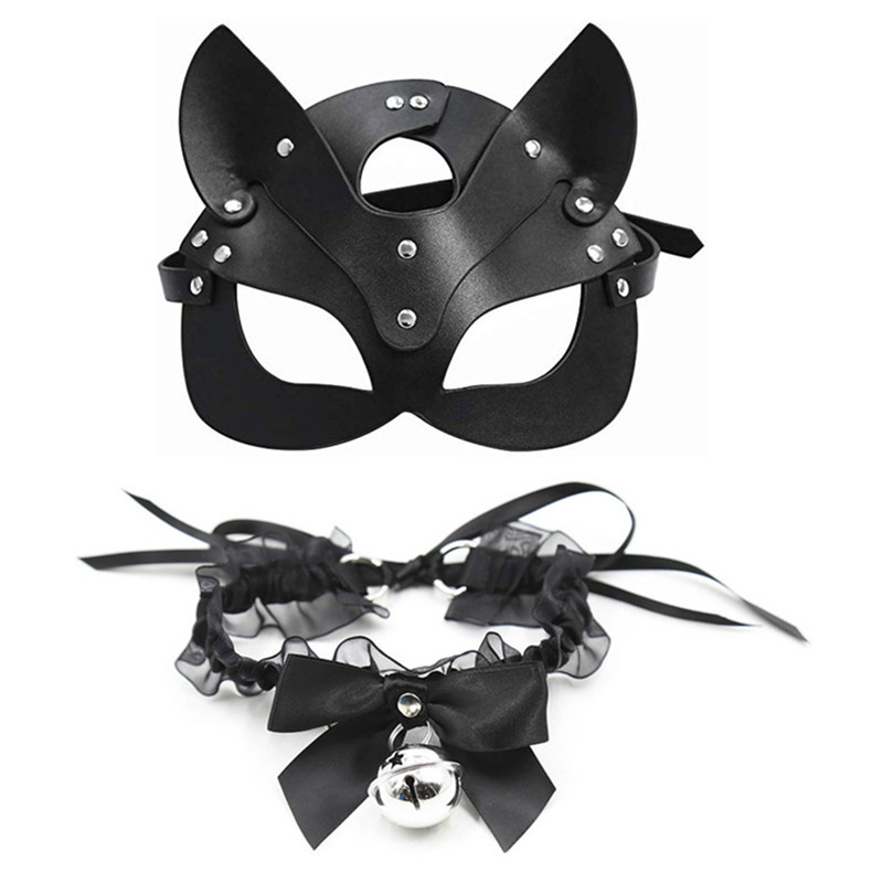 Erotic Women Sexy Mask Half Eyes Cosplay Face Cat Leather Mask Halloween Party Cosplay Mask Masquerade Ball Fancy Masks
