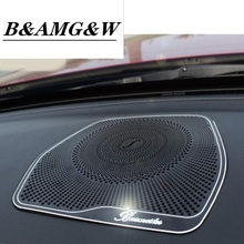 Car styling Audio Speaker For Mercedes Benz W205 X253 GLC C Class Dashboard Loudspeaker Cover Stickers Trim Auto Accessories LHD