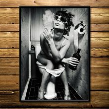 New Alternative Beauty Toilet Decorative Painting Bar Poster Personalized & Creative Bathroom Decorational Picture Painting Core beauty core