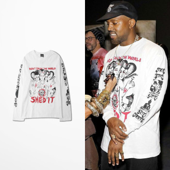 T-Shirt Kanye West Pablo manches longues Unisex Shed It
