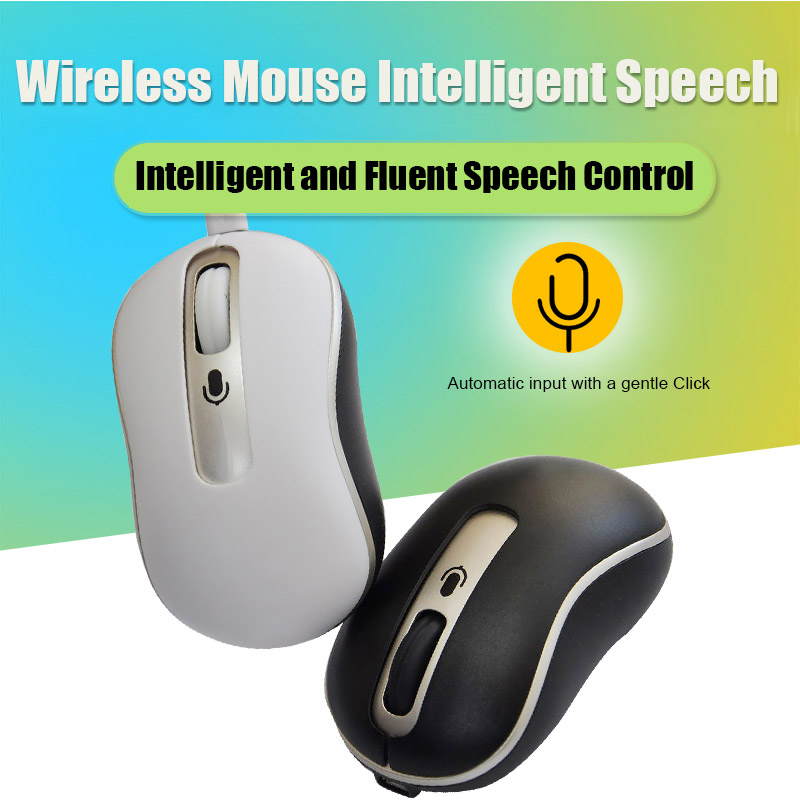 Voice Control Mouse Wireless Rechargeable Mice Input Search Translation JHP-Best