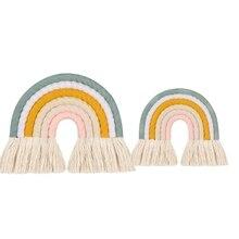 Room-Decor Nursery Hanging Rainbow Baby-Girls Nordic Kids Children Weaving Handmade