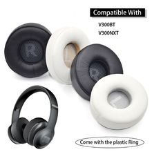 1Pair Leather Earpads Ear Cushion Cover Replacement for JBL V300 V300BT/V300NXT Wireless Headphones Headset high quality replacement leather earpads ear cushion cover headband for somic g925 headphones headset accessories