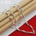 DOTEFFIL 925 Sterling Silber Wasser Tropfen Anhänger Halskette Für Frau 18 Zoll Kette Hochzeit Engagement Schmuck