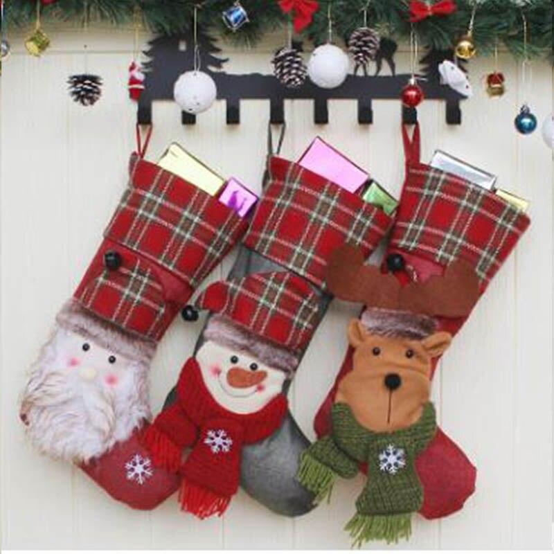 2020 nuevo juego de cama Feliz Navidad conjunto de cama azul Santa Claus ropa de cama calcetines de Navidad alce cama de muñeco de nieve ropa de cama individual/cama doble - 6