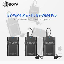 Boya BY-WM4 Pro/BY-WM4 Mark II беспроводной Студийный конденсаторный микрофон петличный нагрудный микрофон для интервью для камер iPhone Canon Nikon