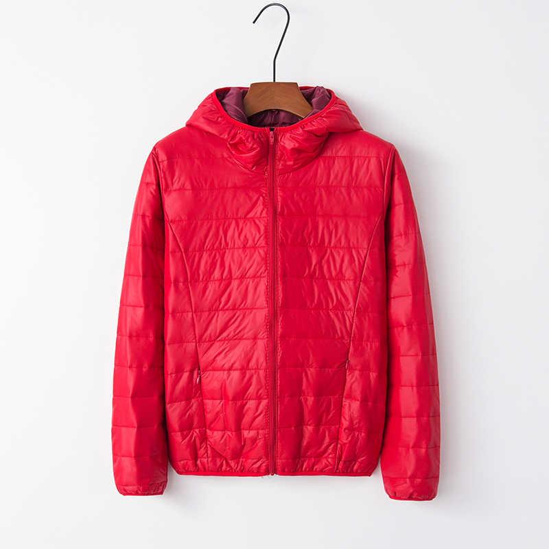 Sexy Kurze Kapuze Dünne Unten Mantel Frauen Winter Lässige Warme Lange Hülse Unten Jacke Koreanische Lose Zipper Streetwear Oberbekleidung Grün