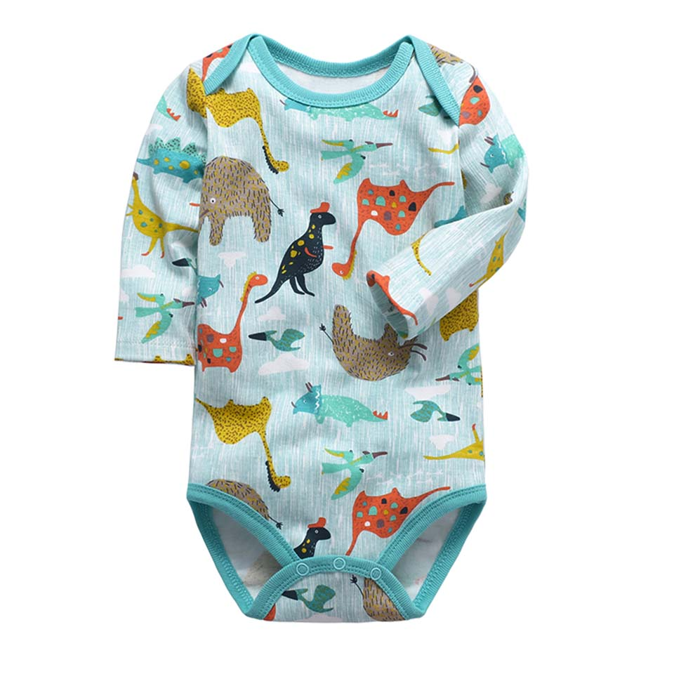 0-2 Year Quality 100%Cotton Newborns Baby Bodysuits Long Sleeved Baby Clothes Cartoon Dinosaur Body Infant Jumpsuits Body Suits