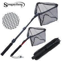 Sougayilang 70/95/120 centimetri Retrattile Rete Da Pesca Telescopica Pieghevole Guadino Palo Pieghevole Landing Net per Fly pesca