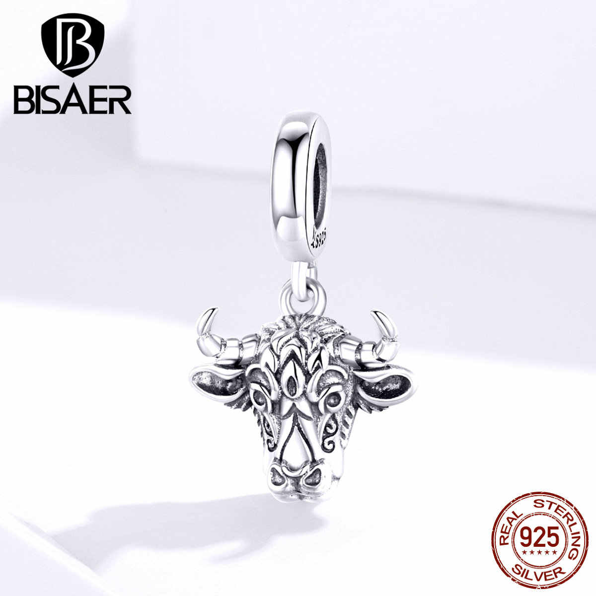 925 Sterling Silver Ox Dangle Charms Beads Fits All European Style Women Jewelry Bracelets Necklaces