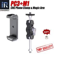 Innorel Aluminium Magic Arm En Universele Telefoon Klem Adapter Clip Mount Voor Cellphone Dslr Camera Statief Led Light Video