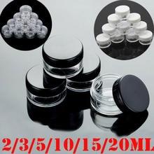10pcs 2g/3g/5g/10g/15g/20g Empty Plastic Clear Cosmetic Jars Makeup Container Lotion Bottle Vials Face Cream Sample Pots Gel Box
