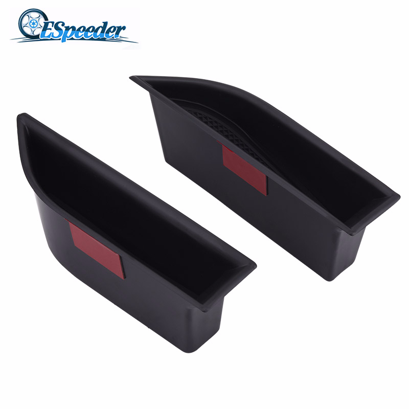 ESPEEDER 1Pair Left Right Front Door Storage Box Armrest Container Box Cover Kit Trim For Peugeot 5008 3008GT 2016 2017 2018
