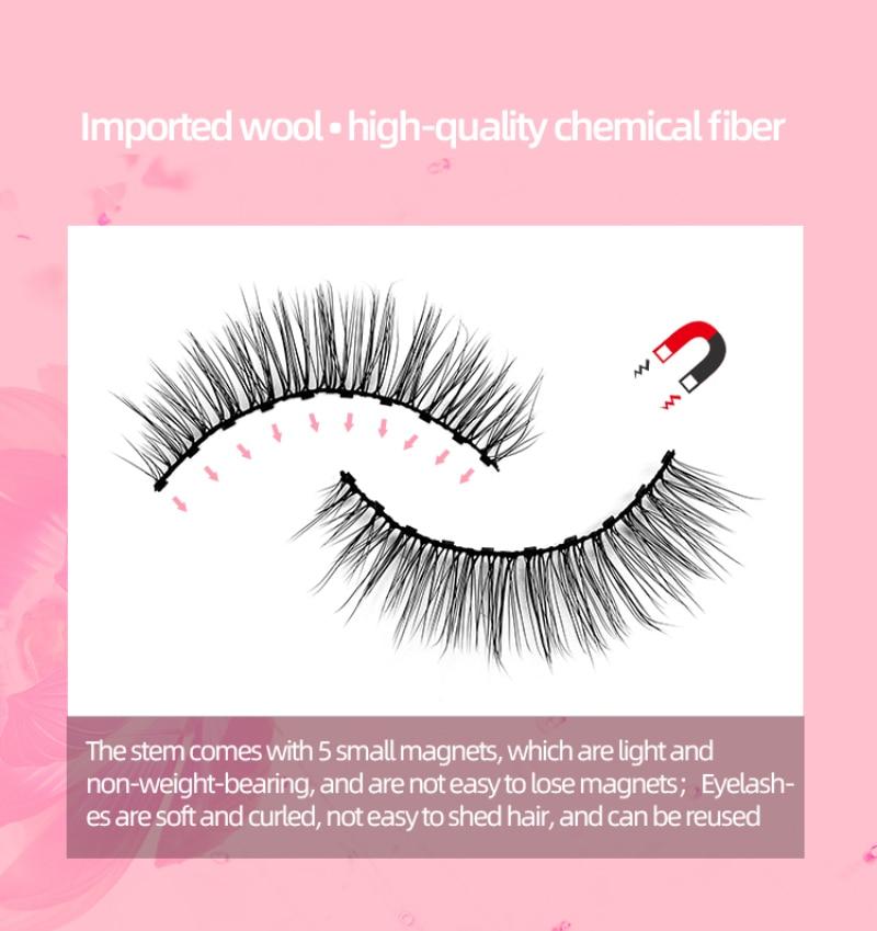 magnetica cilios posticos conjunto atacado em estoque ima cilios olhos maquiagem 05