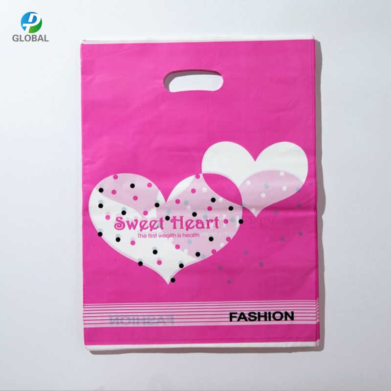 D&P 15*20cm/20*25cm 10pcs Wedding gifts boutique gifts shopping packaging plastic Handle Bags Jewelry Plastic package Bags