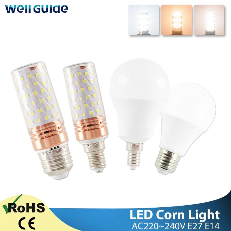 E27 E14 LED Bulb LED Lamp 3W 6W 9W 12W 16W AC 220V 240V SMD2835Corn Bulb Led Lampada Bombilla Ampoule For Home Decoration