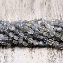 Натуральная подвеска неправильной формы серые бусины из камня