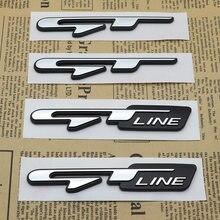 1pc carro atuo emblema 3d etiqueta gt linha logotipo letras decalques para kia forte ceed stinger shuma rio sportage alma cerato acessórios