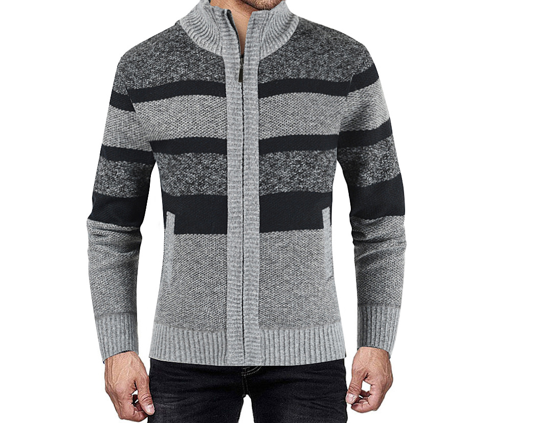 Autumn Winter Fashion Mens Sweaters Patchwork Knitted Cardigan Coats Brand Clothing Man's Knitwear Sweatercoats Tops Outerwear
