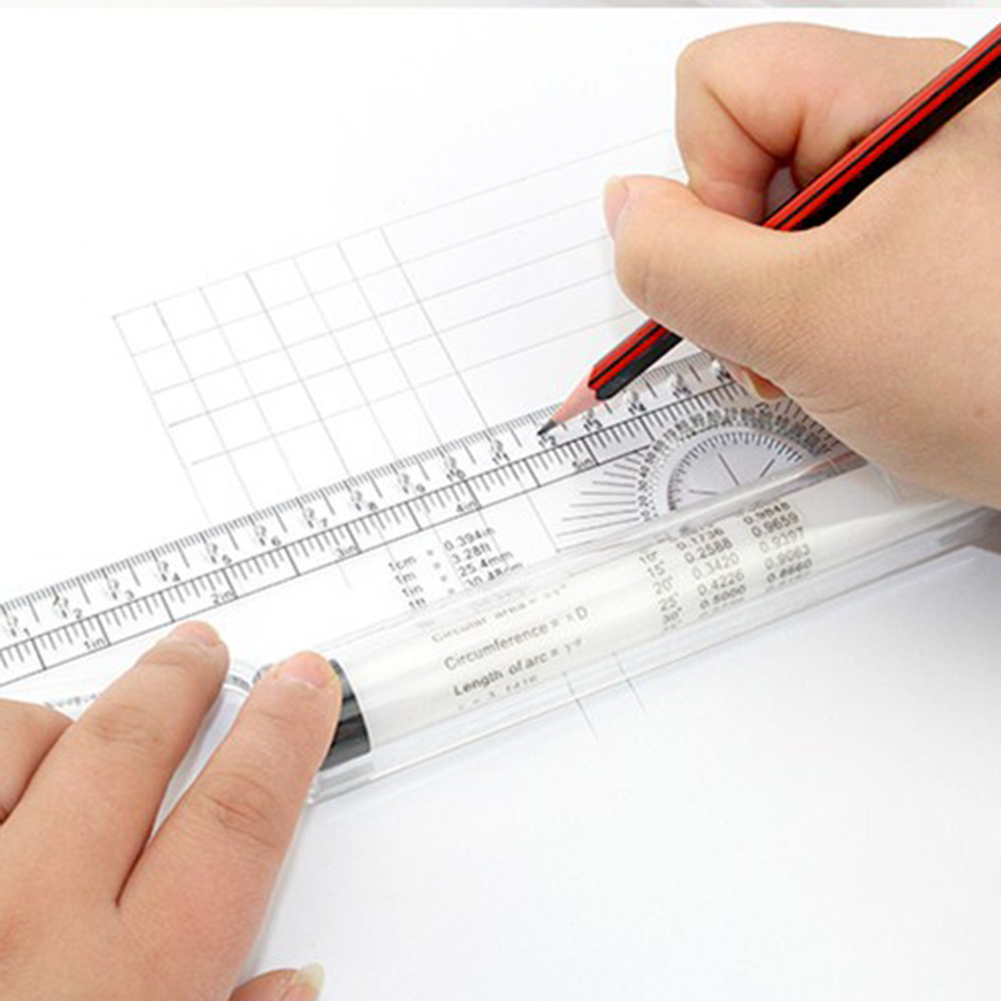 30cm Universal Parallel Rulers Angle Ruler Balancing Scale Drawing Multi-purpose Rolling Ruler Stationery Drawing Supplies