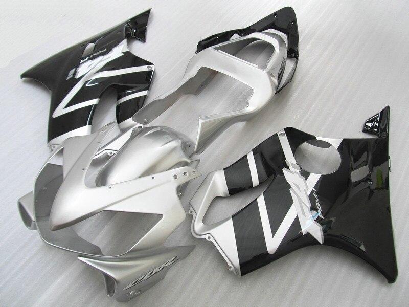 ABS coques moto Route carénages kit pour Honda CBR 600 F4i carénage ensemble 2001 2002 2003 CBR 600 F4i 01 02 03 noir argent bodywo