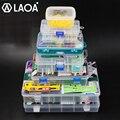 LAOA Винтовая Коробка для хранения прозрачные пластиковые коробки маленькая коробка для хранения деталей Бытовая Коллекционная коробка