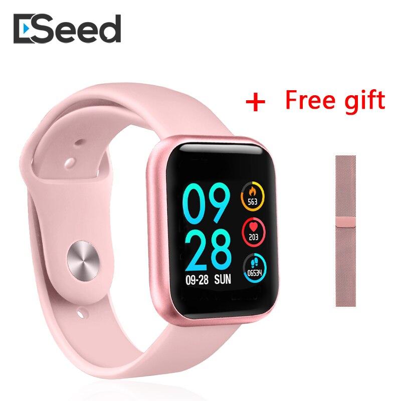 ESEED P80 montre intelligente femmes IP68 étanche écran tactile smartwatch moniteur de fréquence cardiaque pour samsuang xiaomi huawei montre