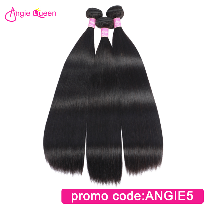 Angie Queen Straight Malaysian Hair Weaves Remy Hair Bundles 100% Human Hair Natural Color Remy Hair Extension 16 18 20 22 24 26