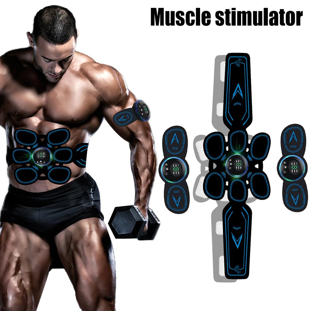 Electric Rechargeable Abdominal Muscle Stimulator ABS Trainer Fitness Sculpting Exerciser For Weight Loss Body Slimming Massager
