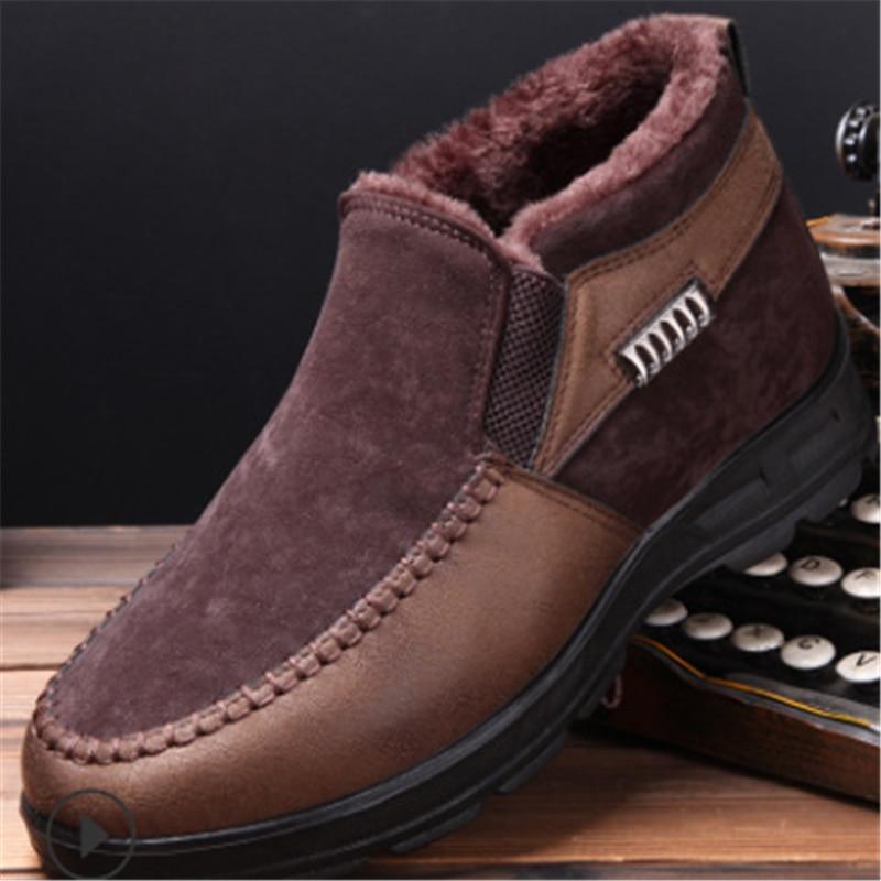 2019 bottes d'hiver pour hommes chaussures d'hiver chaud en peluche fourrure bottes de neige hommes bottines hommes bottes d'hiver Bota Masculina Botas Hombre