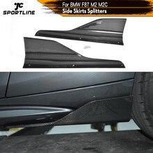 De fibra de carbono/FRP faldas laterales divisores Cupwings aletas para BMW Serie 2 F87 M2 M2C competencia 2016 - 2020 conservas de delantal