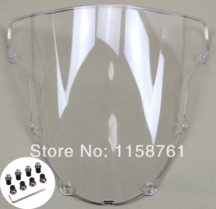 Clear Motorcycle Windshield case For Kawasaki ZX-6R ZX <font><b>636</b></font> <font><b>2003</b></font> 2004 image