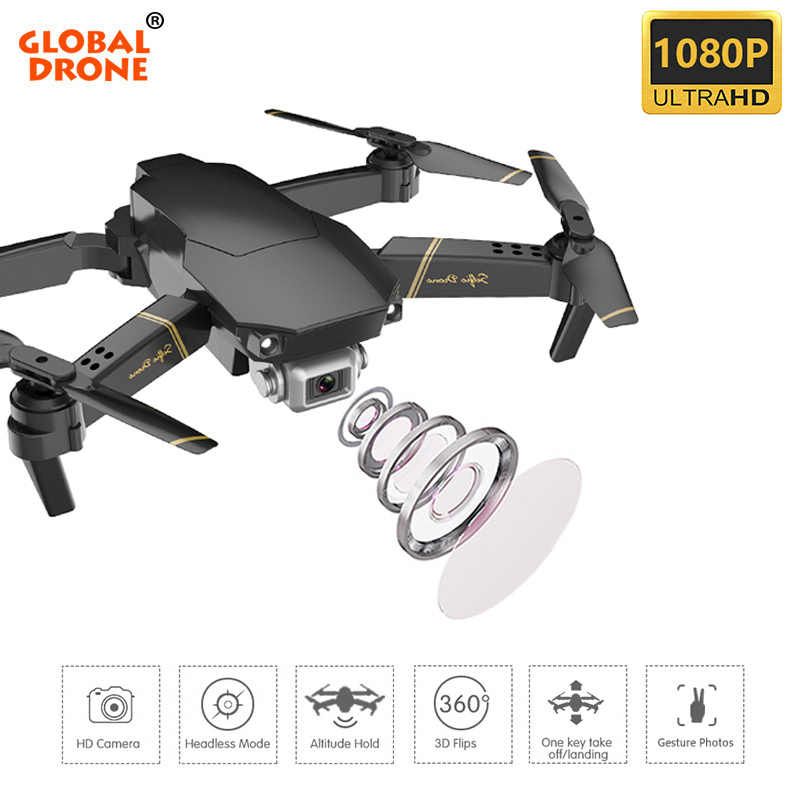 Global EXA Dobrável RC Drones Drone com Câmera HD 1080P Mini Quadcopter Dron Helicóptero Quadrocopter Alta Hold VS E58 e520