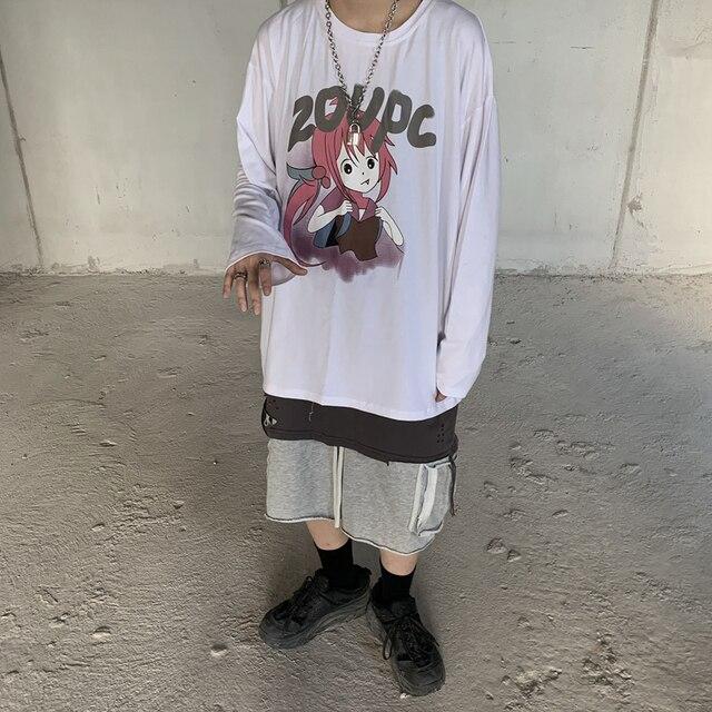 индивидуальная горячая распродажа футболка harajuku с принтом фотография