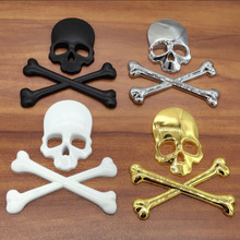 1pcs Metal 3D Skull Car stickers Logo Emblem Badge car window Truck Sticker Auto Motor Styling  Decal Accessories