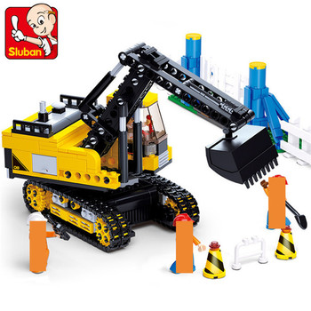 614Pcs City Engineering Excavator Construction Building Blocks Sets Figures DIY Bricks Creative Educational Toys for Children 614pcs city engineering excavator construction building blocks sets figures diy bricks creative educational toys for children