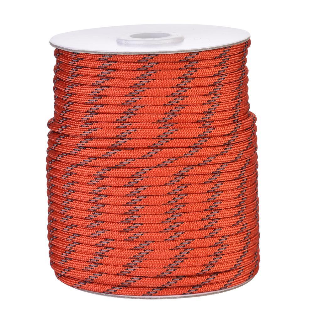 4mm diâmetro 20/30/50m corda reflexiva à prova de vento tenda corda cara linha para acampamento tenda corda de acampamento corda reflexiva cordas cara para dez