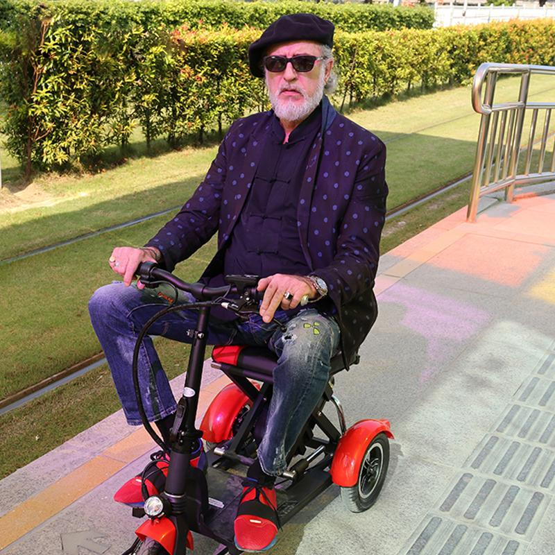 Electric Kick Scooter Adult Three Wheel Electric Scooters Tricycle 36V 300W Portable Folding Electric Elderly Scooter (22)